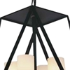"Picture of 17"" 4 Light Candle Chandelier with Black finish"