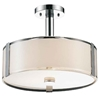 "Picture of 17"" 4 Light Drum Shade Chandelier with Chrome finish"