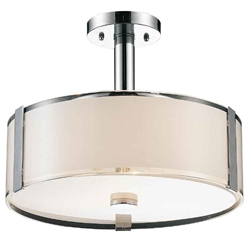 """17"""" 4 Light Drum Shade Chandelier with Chrome finish"""