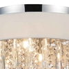 "Picture of 17"" 4 Light Drum Shade Flush Mount with Chrome finish"