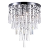 """Picture of 17"""" 4 Light Drum Shade Flush Mount with Chrome finish"""