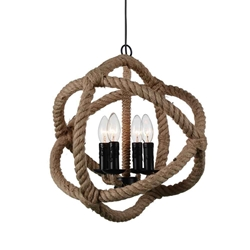 """17"""" 4 Light Up Chandelier with Black finish"""