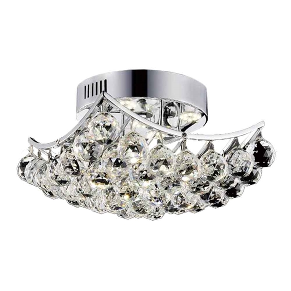 "Picture of 17"" 6 Light  Flush Mount with Chrome finish"
