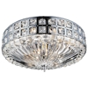 "Picture of 17"" 6 Light Bowl Flush Mount with Chrome finish"