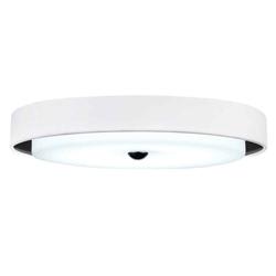 """17"""" LED Drum Shade Flush Mount with Black & White finish"""