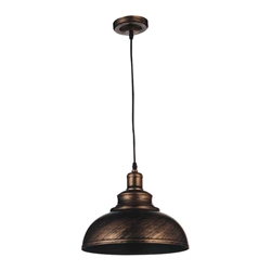 "18"" 1 Light Down Pendant with Antique Copper finish"
