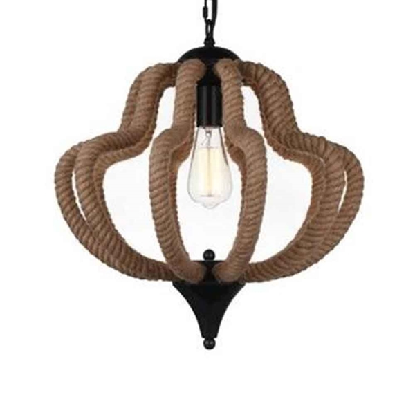 "Picture of 18"" 1 Light Down Pendant with Black finish"