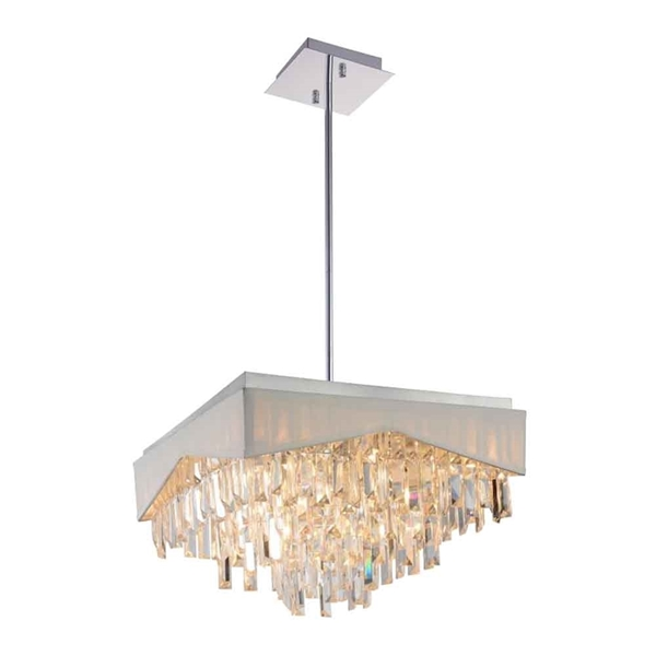"""Picture of 18"""" 13 Light Down Chandelier with Chrome finish"""