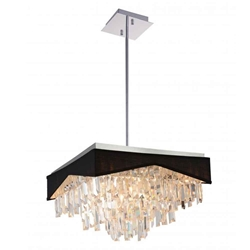 """18"""" 13 Light Down Chandelier with Chrome finish"""