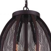 "Picture of 18"" 2 Light Down Pendant with Reddish Black finish"