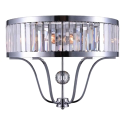 "18"" 2 Light Wall Sconce with Chrome finish"