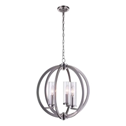 "18"" 3 Light  Chandelier with Satin Nickel finish"