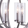 "Picture of 18"" 3 Light  Chandelier with Satin Nickel finish"