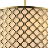 "Picture of 18"" 3 Light Drum Shade Chandelier with French Gold finish"
