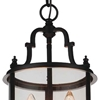 "Picture of 18"" 3 Light Drum Shade Mini Pendant with Oil Rubbed Bronze finish"