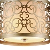 "Picture of 18"" 3 Light Drum Shade Mini Pendant with Rubbed Silver finish"