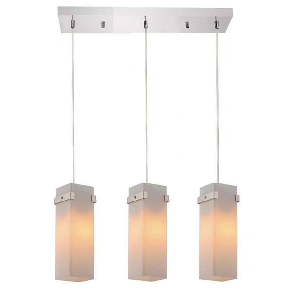 """Picture of 18"""" 3 Light Multi Light Pendant with Chrome finish"""