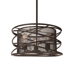 "16"" 1 Light Down Pendant with Black finish"