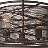 """Picture of 18"""" 3 Light Up Chandelier with Brown finish"""