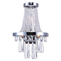 """18"""" 3 Light Wall Sconce with Chrome finish"""