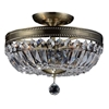 "Picture of 18"" 4 Light Bowl Flush Mount with Antique Brass finish"