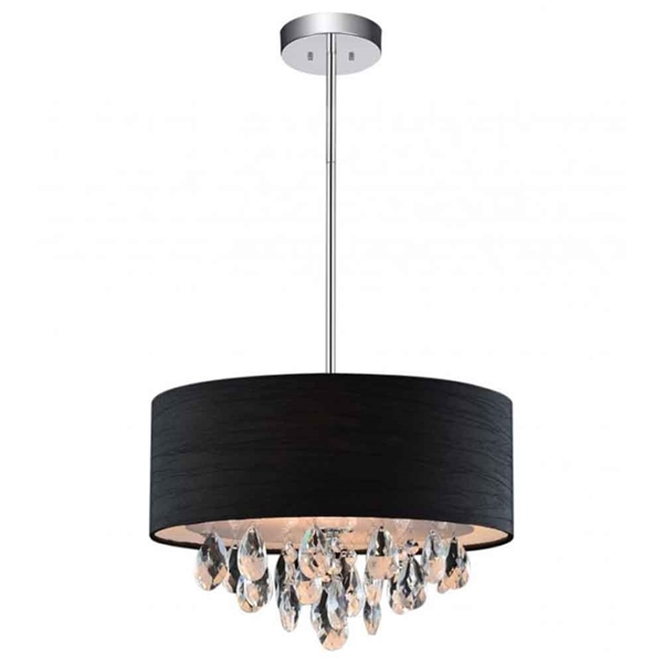 "Picture of 18"" 4 Light Drum Shade Chandelier with Chrome finish"