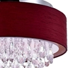 """Picture of 18"""" 4 Light Drum Shade Flush Mount with Chrome finish"""
