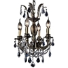 "Picture of 18"" 4 Light Up Chandelier with Antique Brass finish"