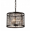 """Picture of 18"""" 4 Light Up Chandelier with Brown finish"""