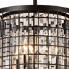 "Picture of 18"" 4 Light Up Chandelier with Brown finish"