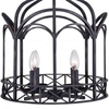 """Picture of 18"""" 4 Light Up Chandelier with Grayish Brown finish"""