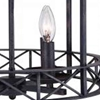 "Picture of 18"" 4 Light Up Chandelier with Grayish Brown finish"