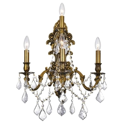 """18"""" 4 Light Wall Sconce with French Gold finish"""
