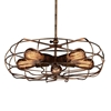 "Picture of 18"" 5 Light  Pendant with Antique Copper finish"