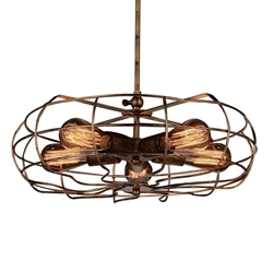 "18"" 5 Light  Pendant with Antique Copper finish"