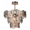 "Picture of 18"" 5 Light Down Chandelier with Champagne finish"
