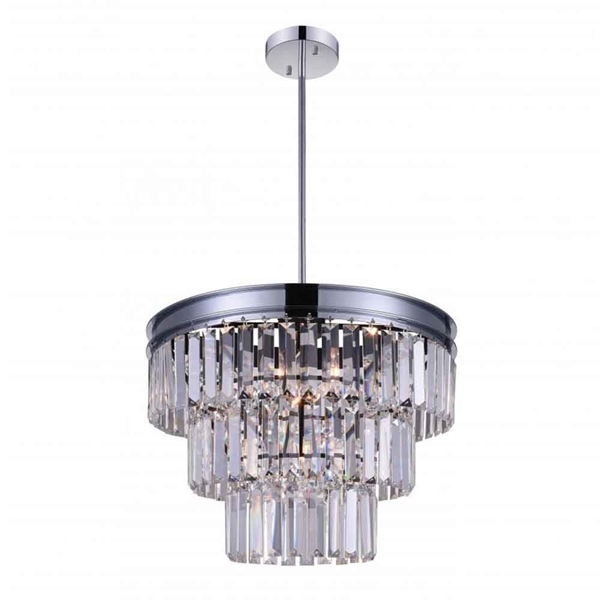 "Picture of 18"" 5 Light Down Chandelier with Chrome finish"