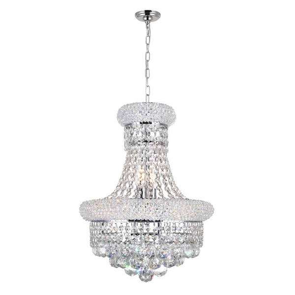 "Picture of 18"" 6 Light  Chandelier with Chrome finish"