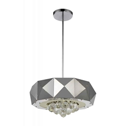 """18"""" 6 Light  Chandelier with Chrome finish"""