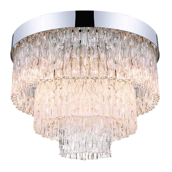 """Picture of 18"""" 6 Light  Flush Mount with Chrome finish"""