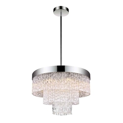 """18"""" 6 Light Down Chandelier with Chrome finish"""