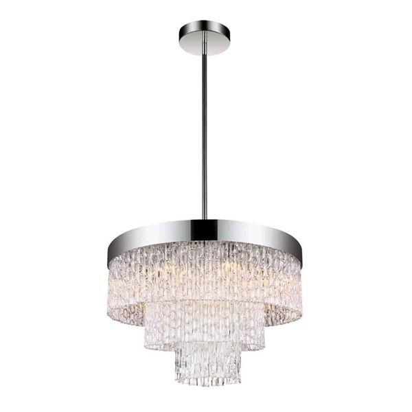 """Picture of 18"""" 6 Light Down Chandelier with Chrome finish"""