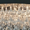 """Picture of 18"""" 6 Light Drum Shade Chandelier with Chrome finish"""