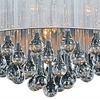"Picture of 18"" 6 Light Drum Shade Chandelier with Chrome finish"