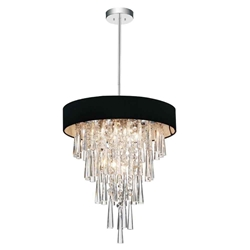 "18"" 6 Light Drum Shade Chandelier with Chrome finish"