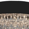 """Picture of 18"""" 6 Light Drum Shade Flush Mount with Chrome finish"""