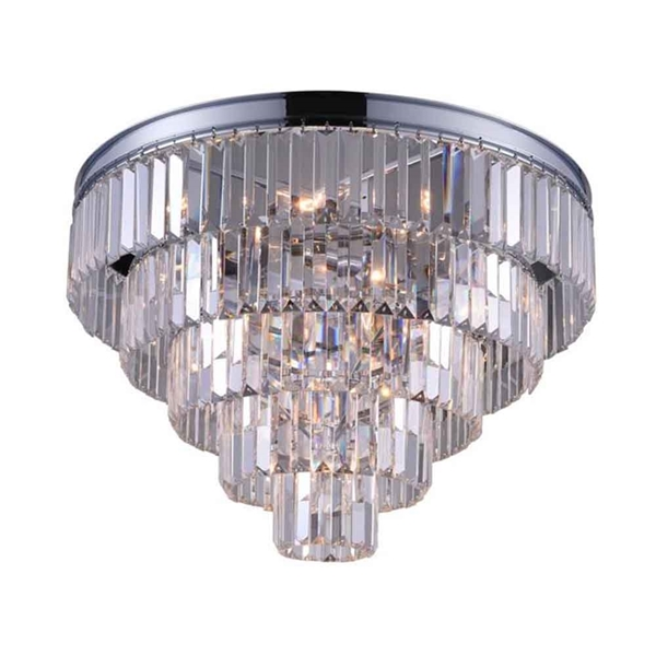 """Picture of 18"""" 7 Light  Flush Mount with Chrome finish"""