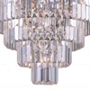 "Picture of 18"" 7 Light Down Chandelier with Chrome finish"