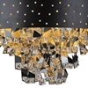 "Picture of 18"" Comodo Modern Crystal Pendant Chandelier Black Metal Shade 6 Lights"