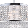 """Picture of 18"""" Cristallo Modern Crystal Round Pendant Chandelier Polished Chrome 9 Lights"""